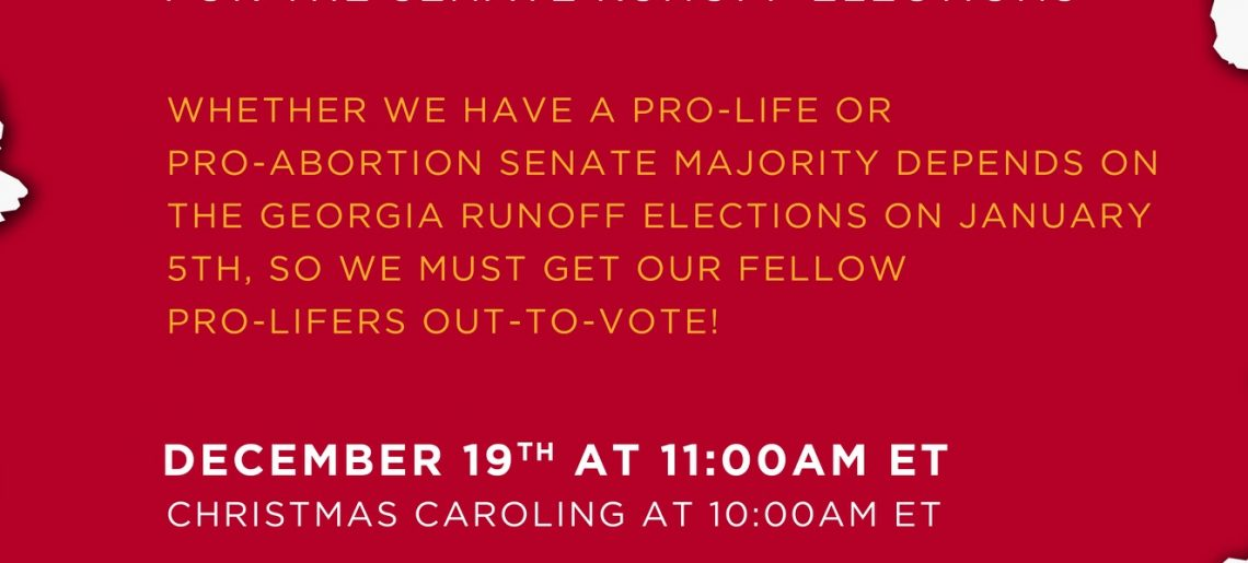 "Make Plans To Attend A ""Get Out The Pro Life Vote Rally"""